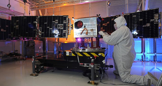 An updated LASP-built TIM instrument launched November 19. (Courtesy NASA)