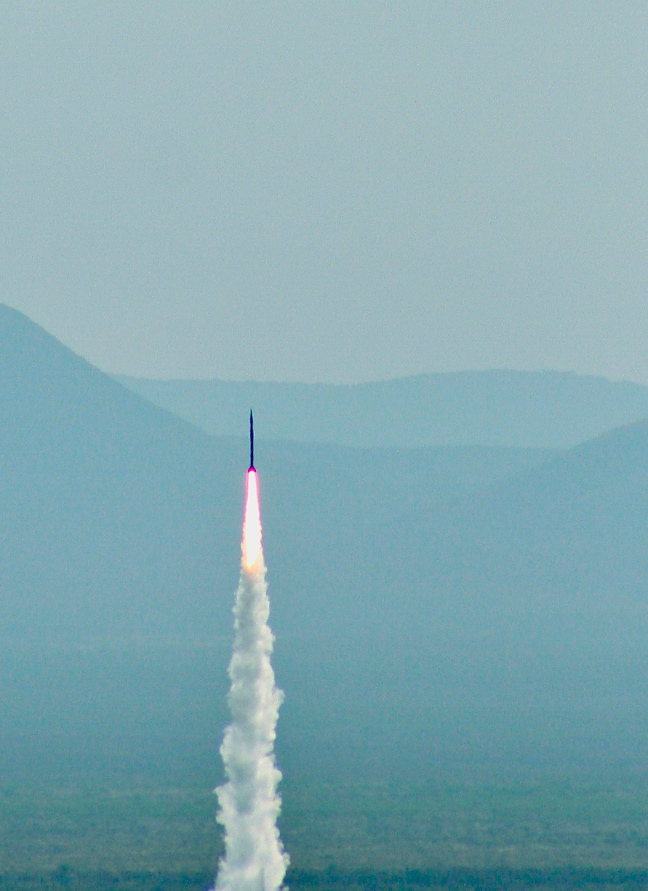 Successful UP Aerospace launch from Spaceport America. Image Credit: Spaceport America