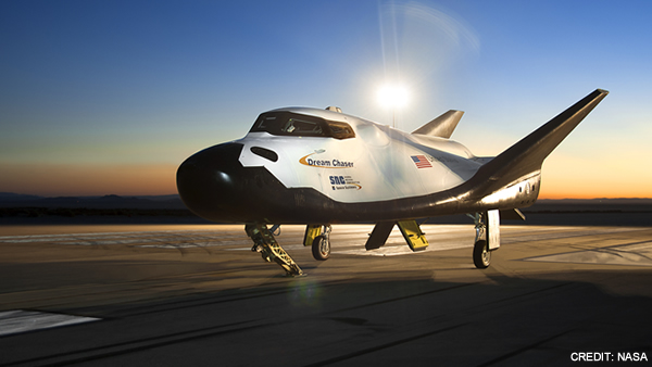 Sierra Nevada Corporation's Dream Chaser Spacecraft. Image Credit: NASA