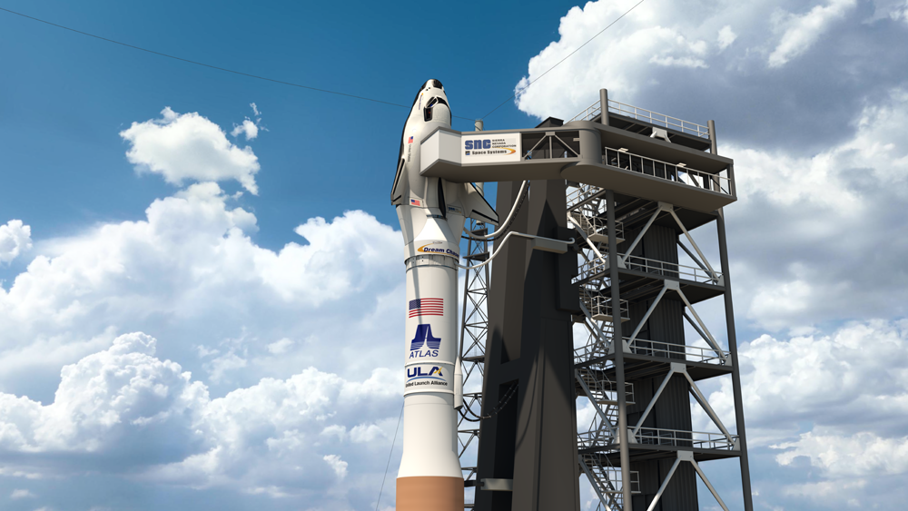 Dream Chaser on an Atlas V. Image Source: Sierra Nevada Corp.