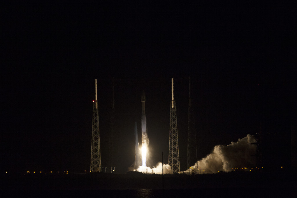 NASA's Tracking and Data Relay Satellite L (TDRS-L) launches from Cape Canaveral Air Force Station in Florida on Jan. 23, 2014 aboard a United Launch Alliance Atlas V rocket. Image Credit: NASA/Kim Shiflett