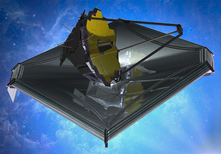 Artist's impression of the James Webb Space Telescope. Image Credit: Northrup Grumman