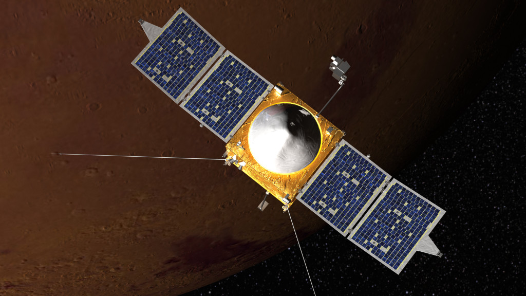 Artist concept of MAVEN spacecraft. Image Credit: NASA's Goddard Space Flight Center