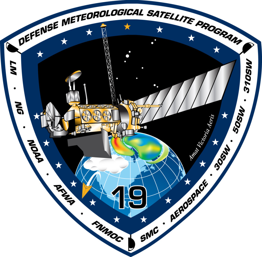 DMSP-19 Mission Patch. Image Source: Lockheed Martin