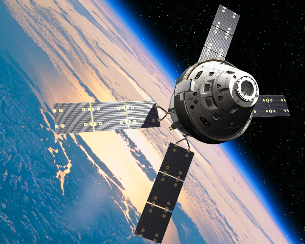 An artist's concept image of the Orion capsule. Image Source: Lockheed Martin