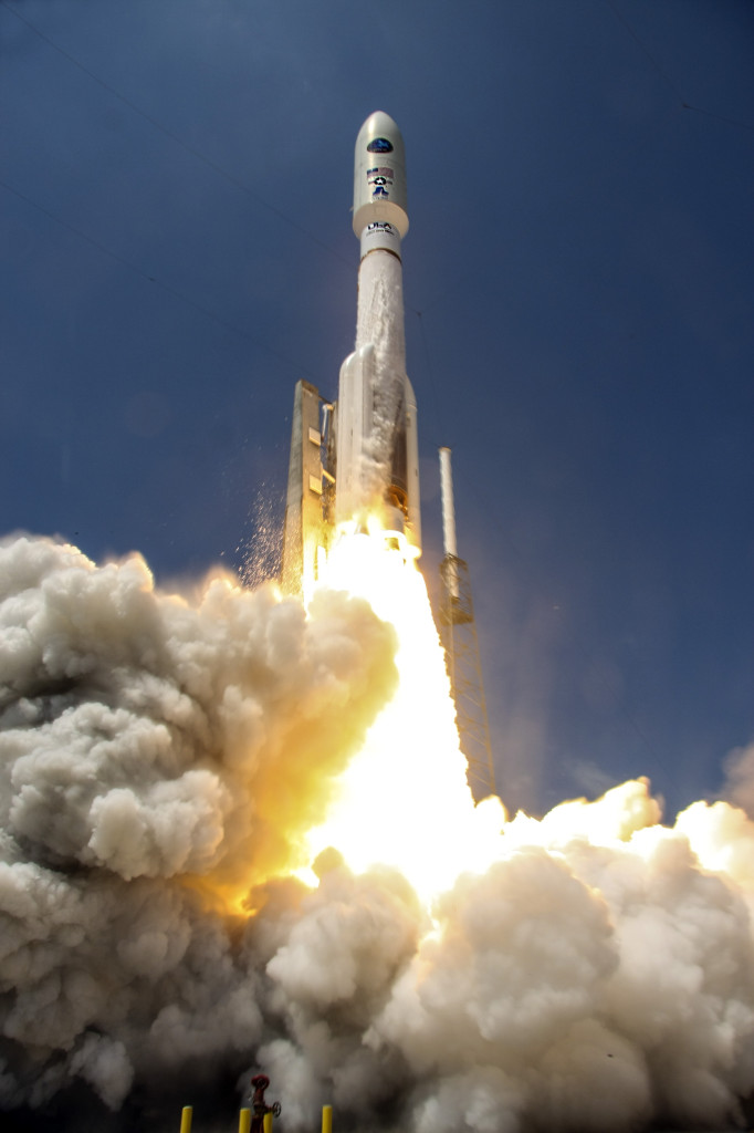 A United Launch Alliance Atlas V launch vehicle lifts off with the National Reconnaissance Office's NROL-67 payload. This was the 45th Atlas V launch since the inaugural flight in 2002. Image Source: United Launch Alliance, LLC