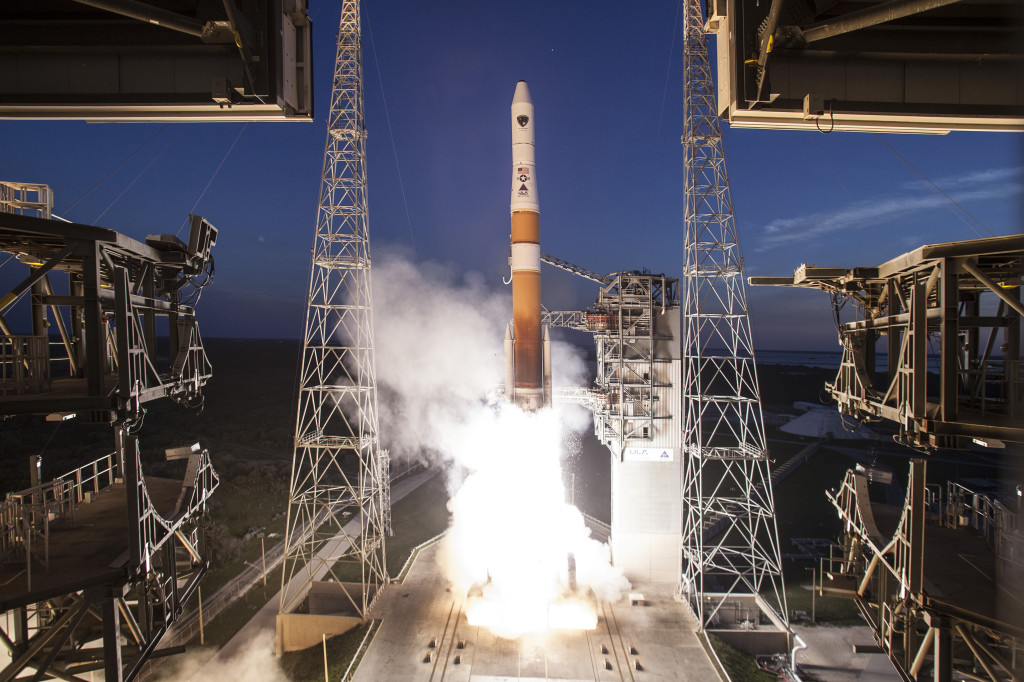 A ULA Delta IV rocket launches from Cape Canaveral Air Force Station. Image Source: ULA