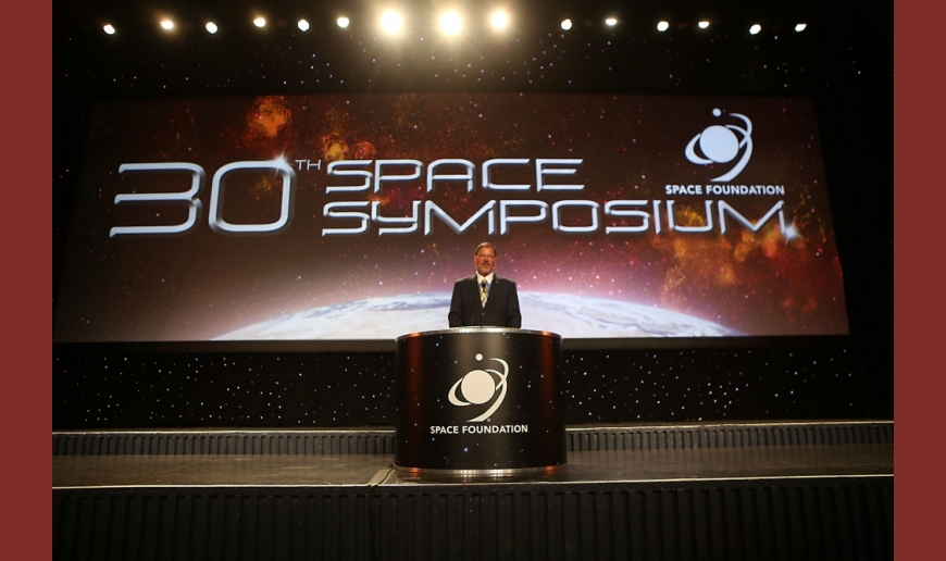 The 30th Space Symposium set a record of 11,000 participants, making it the largest space gathering in the world. Image Source: The Space Foundation