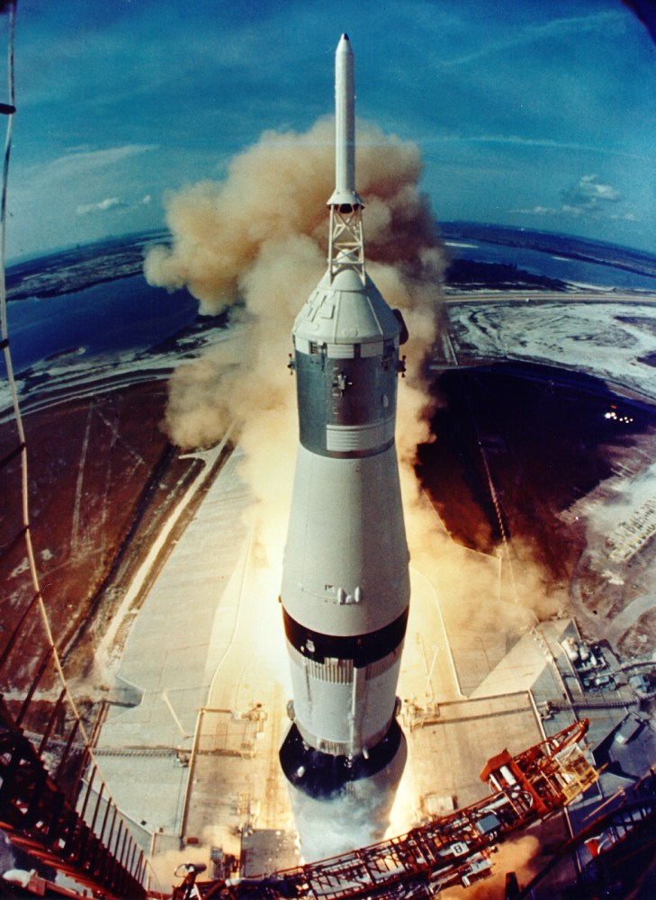 Liftoff of Apollo 11 on July 16, 1969. Image Source: NASA