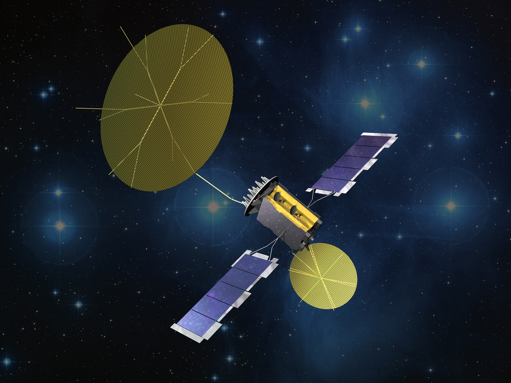 An artist's rendition of MUOS. Image Source: Lockheed Martin