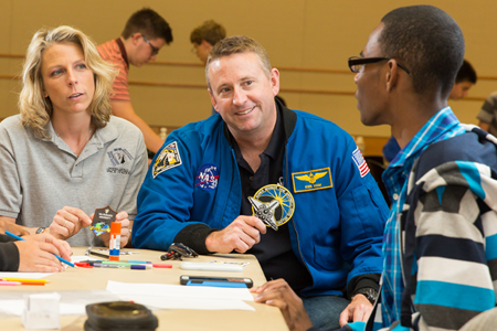 Mission Discovery provides a hands-on learning experience with astronauts, astronaut trainers, rocket scientists and NASA leaders. Image Credit: ISSET/Mission Discovery