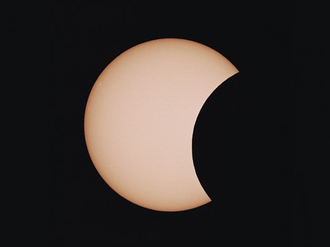A view of the partial solar eclipse in May 1994. Spectators in western North America are positioned perfectly to view October 23rd's partial solar eclipse. Image Credit: Richard Tresch Fienberg
