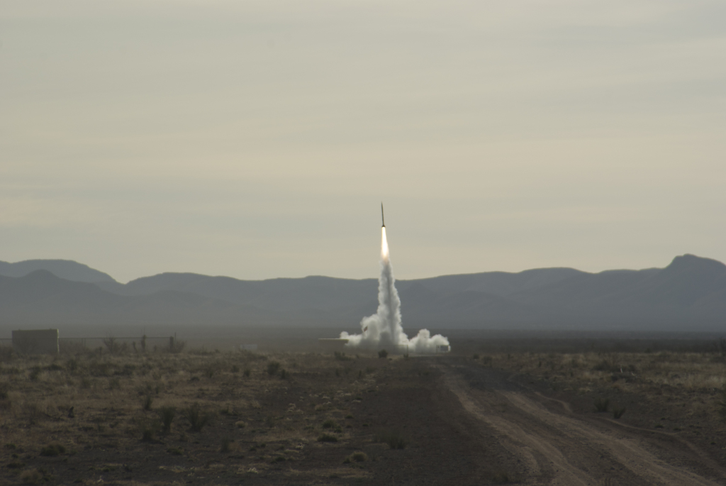 UP Aerospace SpaceLoft 9 launched from Spaceport America on October 23, 2014. Image Credit: NASA
