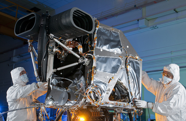 Ball Aerospace designed and built the Operational Land Imager (OLI) which represents a significant advancement in Landsat sensor technology. Image Credit: Ball Aerospace