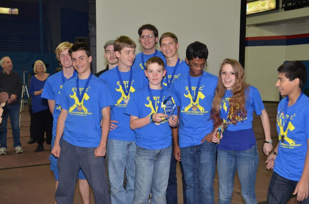 The STEM School and Academy BEST robotics team won its fourth consecutive BEST award at the Rocky Mountain BEST hub competition. Image Credit: STEM School and Academy