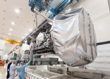 Lockheed Martin recently shipped the Navy's MUOS-3 secure communications satellite to Cape Canaveral Air Force Station ahead of its January 2015 launch. MUOS-4 has now completed environmental testing and is expected to be launched in the second half of 2015. The addition of this fourth MUOS satellite on orbit will provide mobile warfighters global network coverage. Image Credit: Lockheed Martin