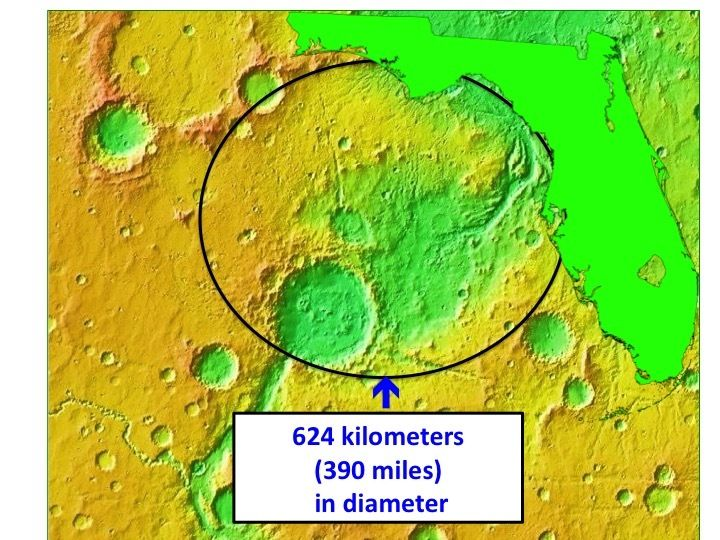 eBay bidders auction to name largest unnamed crater on Uwingu's Mars map, proceeds to benefit the National Space Society, the Mars One project, and more. Image Credit: Uwingu