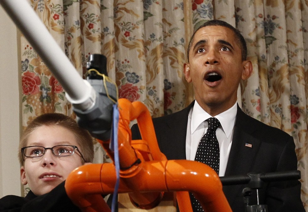 Joey Hudy announced the inaugural White House Maker Faire and fired a marshmallow cannon with President Obama.
