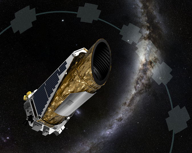 The artistic concept shows NASA's planet-hunting Kepler spacecraft operating in a new mission profile called K2. Image Credit: NASA Ames/JPL-Caltech/T Pyle