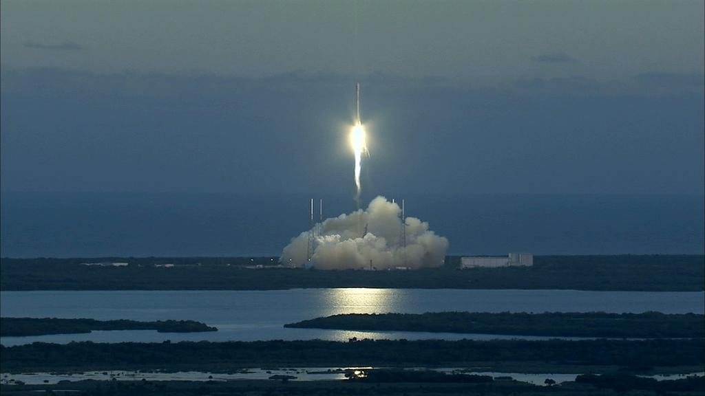 DSCOVR launched on a SpaceX Falcon 9 rocket on February 11, 2015. Image Credit: NASA