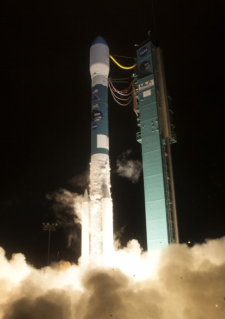 A United Launch Alliance (ULA) Delta II rocket carrying the Soil Moisture Active Passive (SMAP) payload for NASA lifted off from Space Launch Complex-2 at 7:22 a.m. MST on January 31.