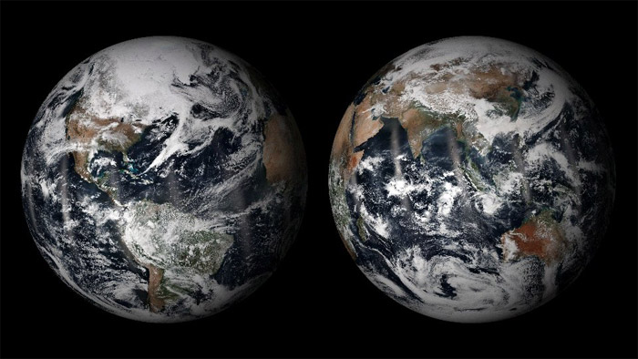 The Earth in True Color, as captured by the VIIRS instrument on the NOAA/NASA Suomi NPP satellite. Image Credit: NOAA Visualization Lab