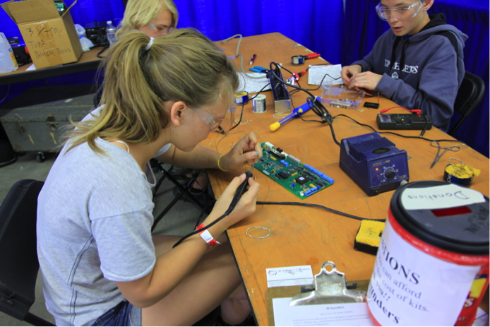 The maker community crosses boundaries of science and art, young and old, craftsmanship and technology, coming together to create the innovation economy. The things we make define us as a society and build our future. Image Credit: Denver Mini Maker Faire