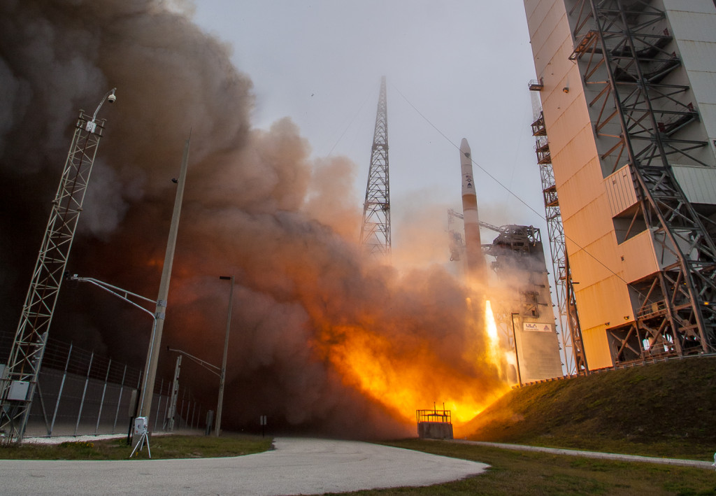 The Air Force and the 45th Space Wing supported the successful launch of a United Launch Alliance Delta IV rocket from Launch Complex 37, March 25, 2015, Cape Canaveral Air Force Station, Florida. Image Credit: Mike Killian