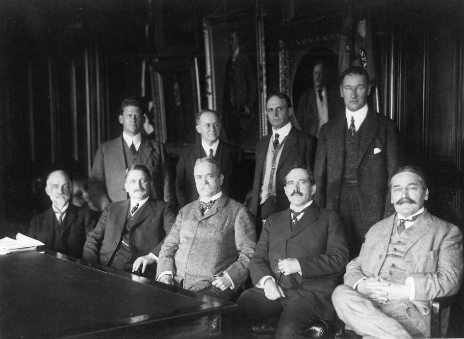 The first meeting of the National Advisory Committee for Aeronautics (NACA) in the Office of The Secretary Of War April 23, 1915. Image Credit: NASA