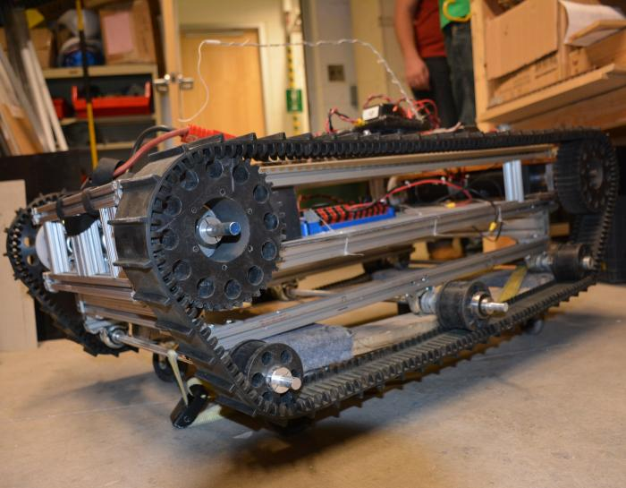 This is the base of the robot Blasterbotica will be using for the competition. Image Credit: Colorado School of Mines