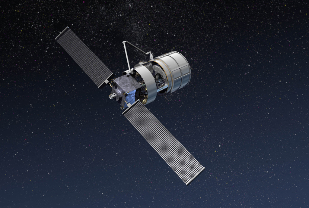 An illustration showing Lockheed Martin's solution for NASA's Commercial Resupply 2 Program. This image shows the Jupiter spacecraft, the Exoliner cargo container, and the robotic arm in space. Image Credit: Lockheed Martin