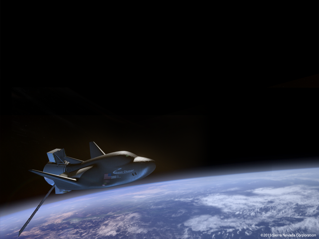 Sierra Nevada Corporation's Uncrewed Dream Chaser on Orbit. Image Credit: Sierra Nevada Corp.