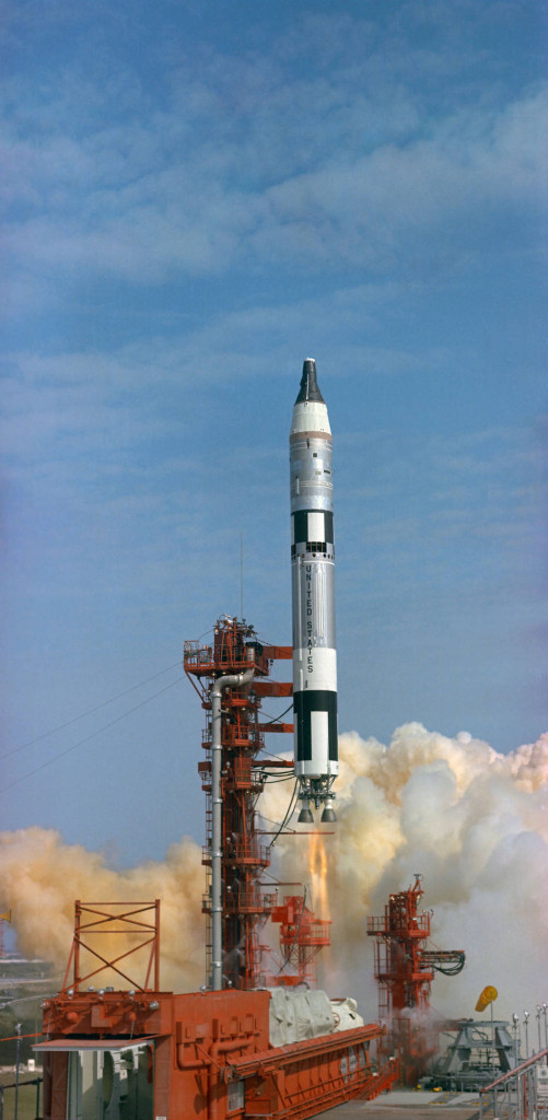 In March 1965, astronauts Gus Grissom and John Young became the first Gemini crew to fly. Image Credit: NASA