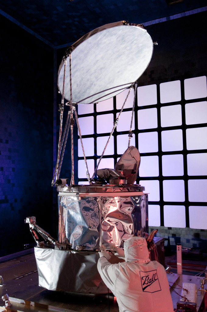 Ball's Microwave Imager on track as best calibrated radiometer in GPM constellation. Image Credit: Ball Aerospace