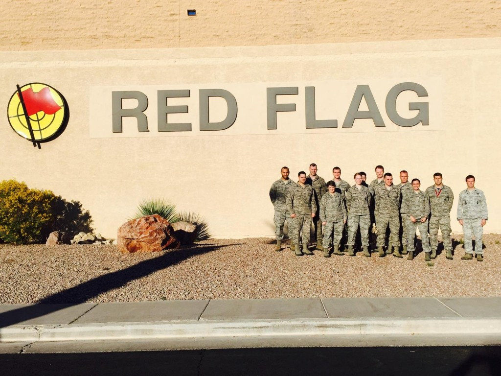 A contingent from Air Force Space Command poses for a photo during Red Flag 15-1 Jan. 26-Feb. 13, 2015, at Nellis Air Force Base, Nevada. Image Credit: U.S. Air Force