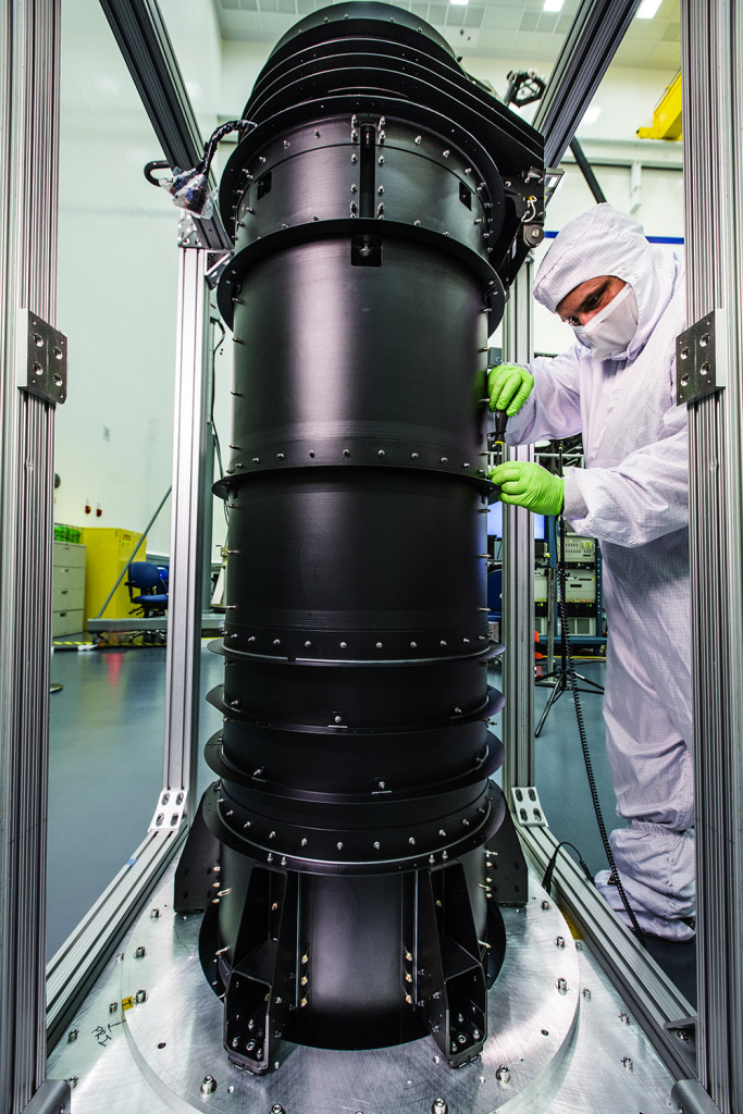 The Deployable Tower Assembly (DTA) for NASA's James Webb Space Telescope was delivered to Northrop Grumman's Space Park facilities in Redondo Beach, California for integration and testing.  Image Credit: Northrop Grumman Corp.