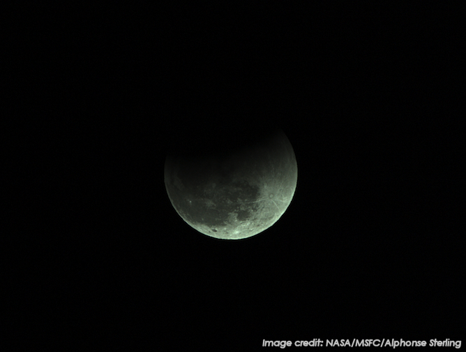 This image shows the Dec. 20, 2012 total lunar eclipse, as seen from Sagamihara, Japan. Image Credit: NASA/MSFC/Alphonse Sterling