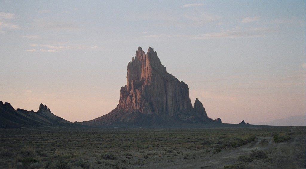"Shiprock, New Mexico, is in the Four Corners region where an atmospheric methane ""hot spot"" can be seen from space. Researchers are currently in the area, trying to uncover the reasons for the hot spot. Image Credit: Wikimedia Commons"