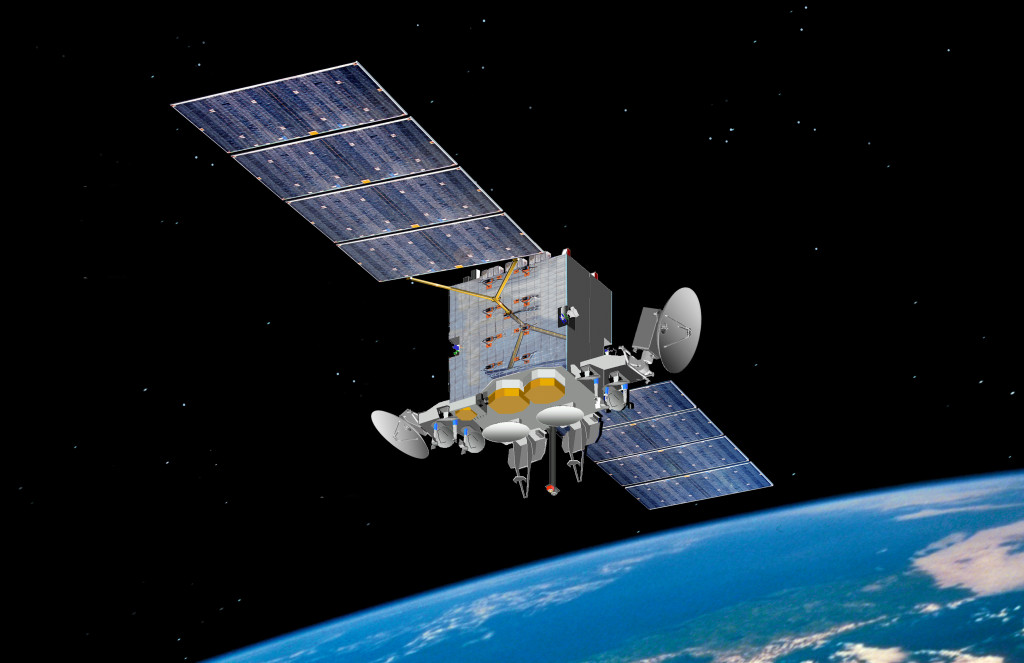 The COOLS contract will provide O&S support for the AEHF (pictured above), Milstar Block I/II and DSCS III constellations. Image Credit: U.S. Air Force