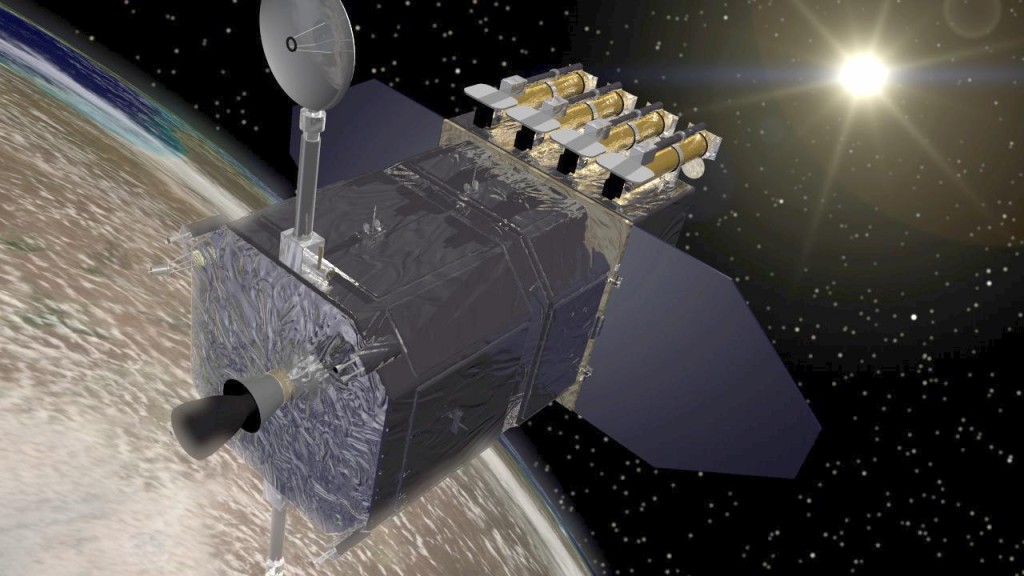 Artist's concept of Solar Dynamics Observatory (SDO) spacecraft. Image Credit: NASA