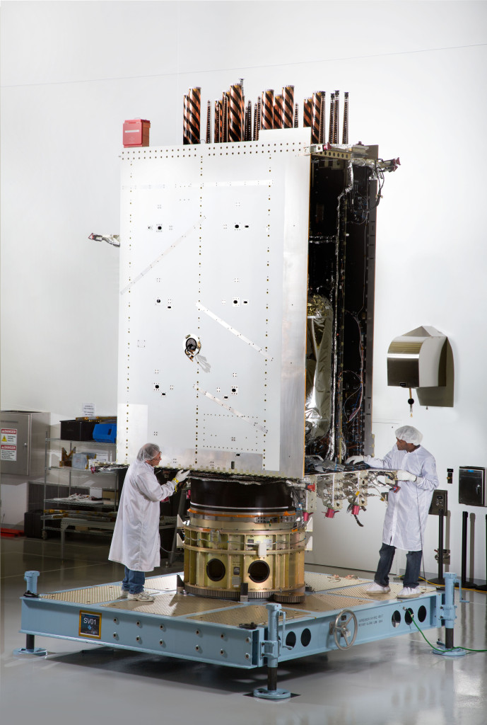 Lockheed Martin recently fully integrated the U.S. Air Force's first next generation GPS III satellite at the company's Denver-area satellite manufacturing facility.  Image Credit: Lockheed Martin