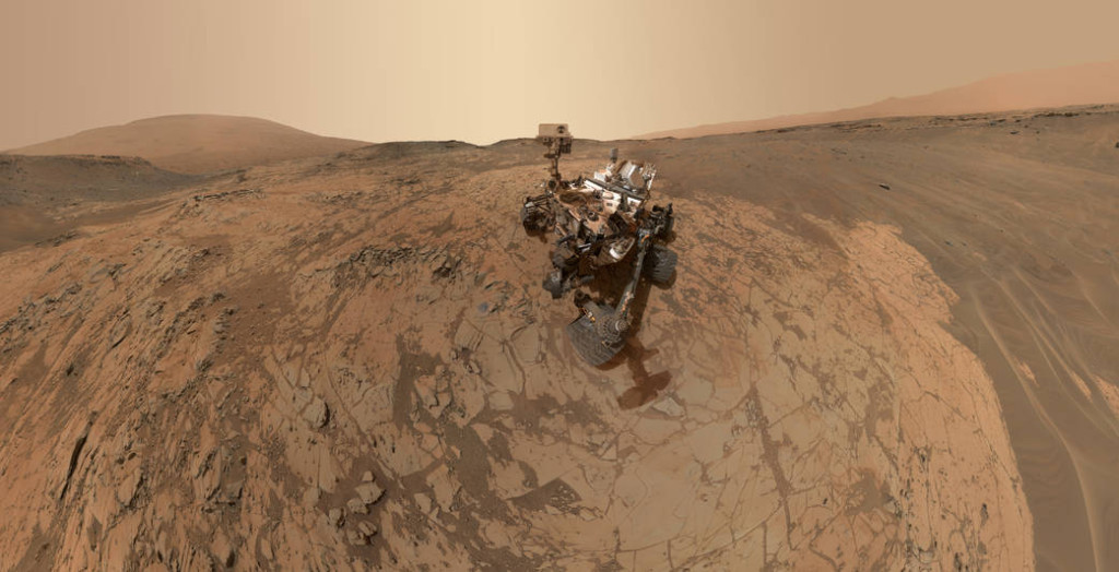 A manned mission to the Red Planet is expected to take about three years, round-trip. Image Credit: NASA/JPL-Caltech/MSS