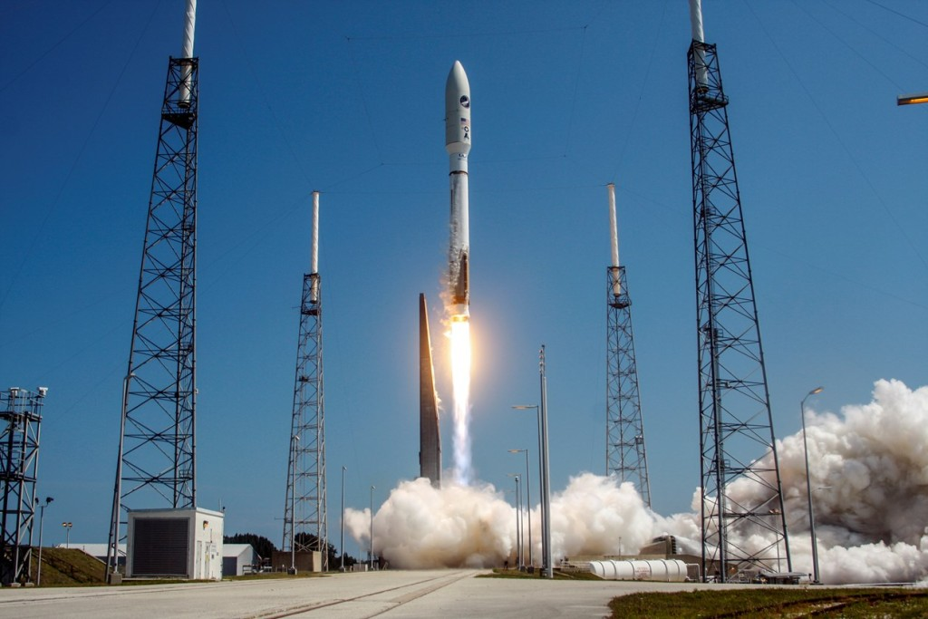 A United Launch Alliance (ULA) Atlas V rocket successfully launched the AFSPC-5 satellite for the U.S. Air Force from Space Launch Complex-41. Image Credit: United Launch Alliance