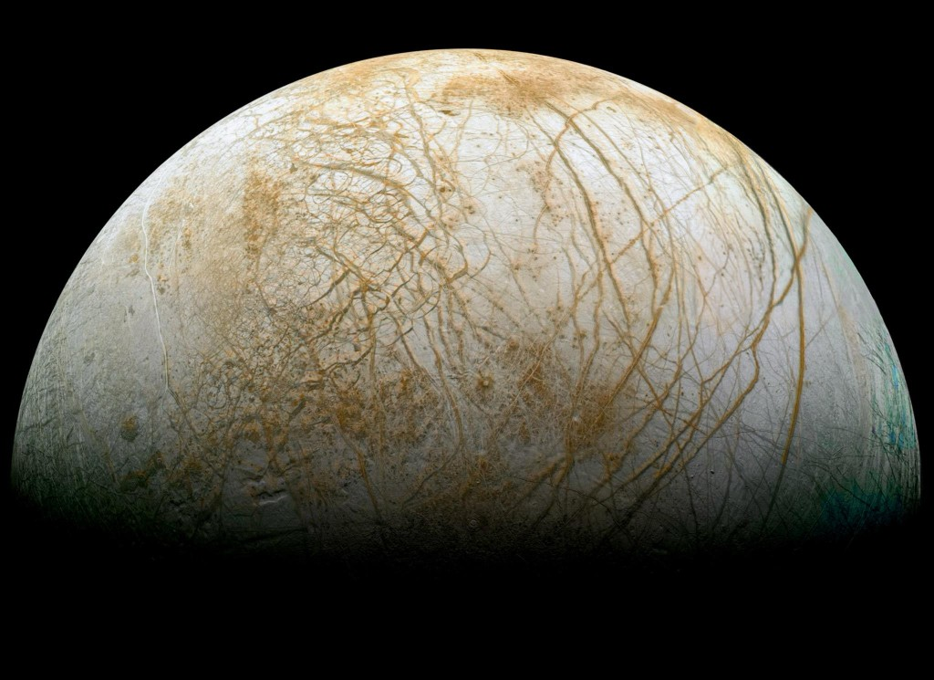 NASA has selected nine science instruments for a mission to Jupiter's moon Europa, to investigate whether the mysterious icy moon could harbor conditions suitable for life. Image Credit: NASA