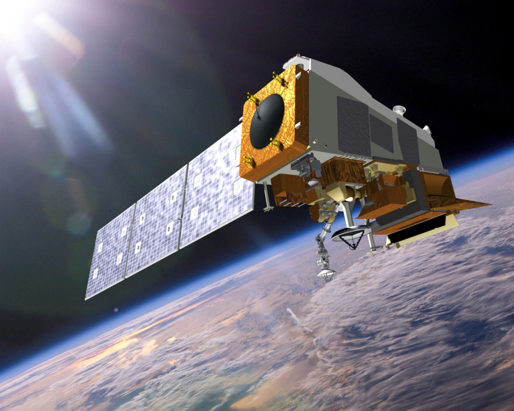 Artist's concept of the JPSS-1 satellite. Image Credit: Ball Aerospace and Technologies Corp.