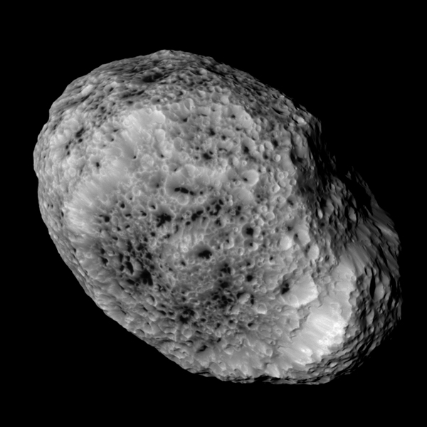 NASA's Cassini imaging scientists processed this view of Saturn's moon Hyperion, taken during a close flyby on May 31, 2015. Image credit: NASA/JPL-Caltech/Space Science Institute