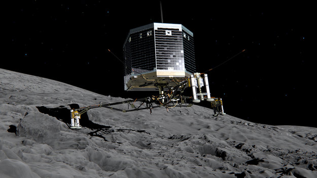 Philae touchdown. Image Credit: ESA