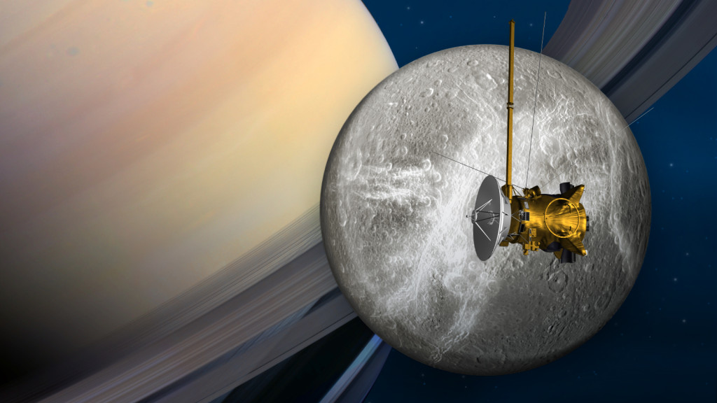 Cassini's penultimate encounter with Saturn's moon Dione is slated for June 16. Image Credit: NASA/JPL-Caltech