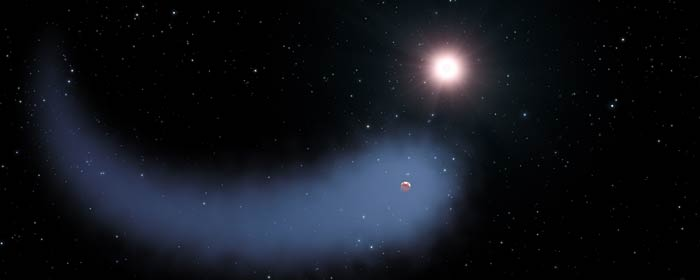 Artist impression of Gliese 436b. Image credit: NASA, ESA, STScI
