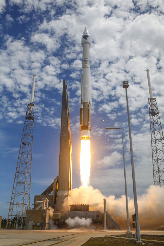 A United Launch Alliance Atlas V rocket roared skyward from Launch Complex 41 at Cape Canaveral Air Force Station carrying the Air Force's tenth Block IIF navigation satellite for the Global Positioning System July 15, 2015, at 9:36 a.m. MDT. Image Credit: United Launch Alliance